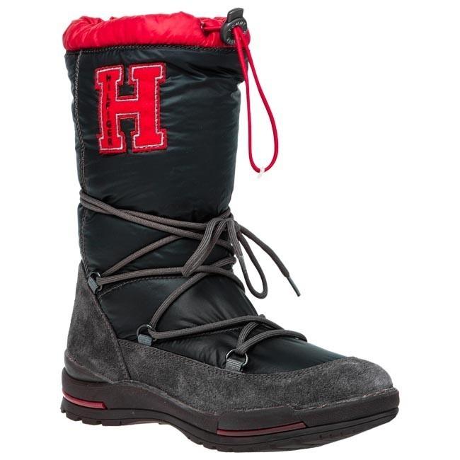 Snow Boots TOMMY HILFIGER - Bridget Jr 9A FG56816260 Black Magnet 990