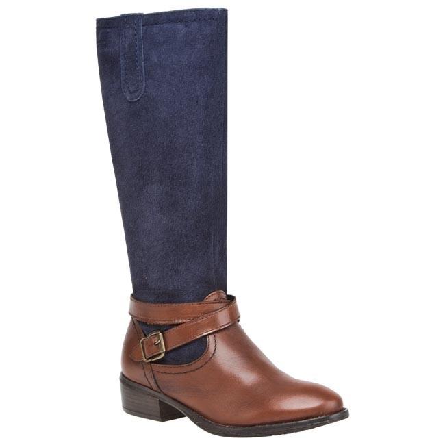 Knee High Boots TAMARIS - 1-25623-21 Cognac/Navy 458