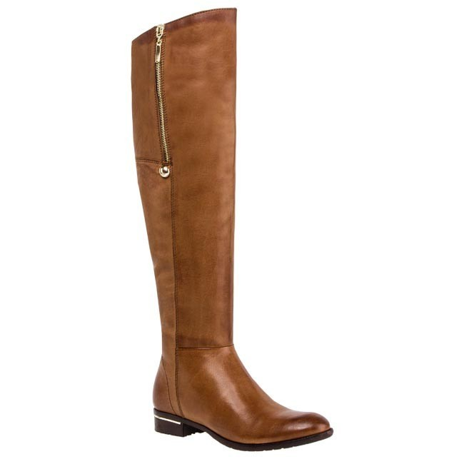 Over-Knee Boots CARINII - B2132 New York Koniak