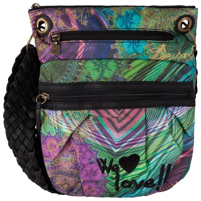 Handbag DESIGUAL - 37X5121 Black Green