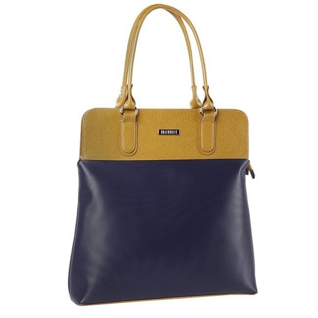 Handbag WOJEWODZIC - W1024/OS14/PC18 Brown Blue