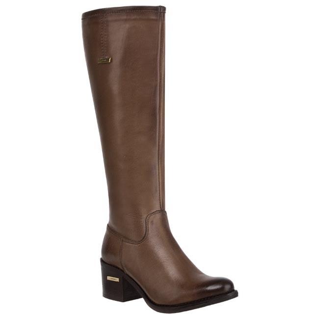 Knee High Boots CARINII - B1873 Montana Castagna OC Wełna