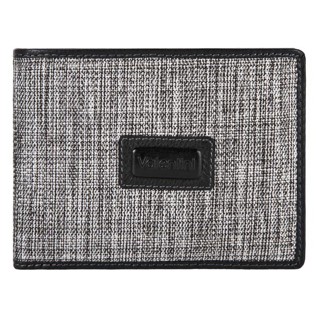 Large Men's Wallet VALENTINI - 114-901-1 Grey/Black