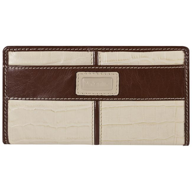Large Women's Wallet VALENTINI - 115-869-7 Beige/Brown