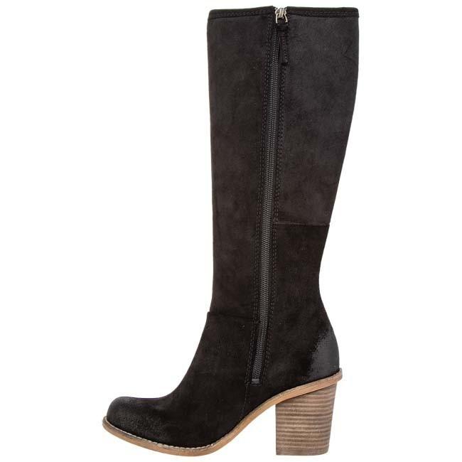 knee high boots clarks marble mine 20357044 4 black