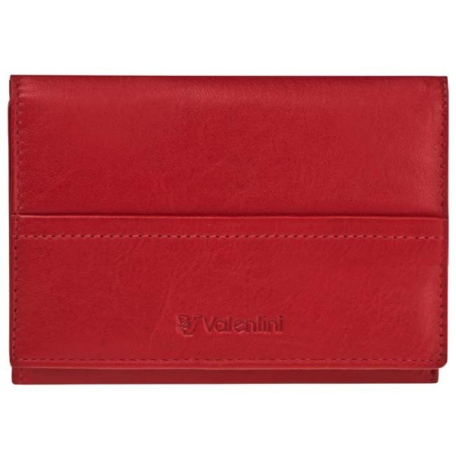 Small Women's Wallet VALENTINI - 154-263-4 Ferrari Red/White