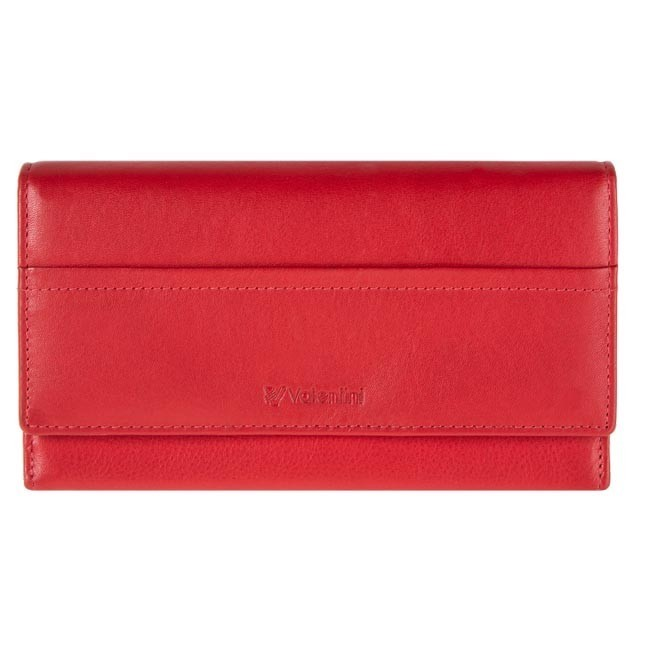 Large Women's Wallet VALENTINI - 154-262-4 F Red
