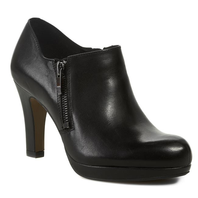 High Heels CLARKS Amos Kendra 261039194 Black Leather