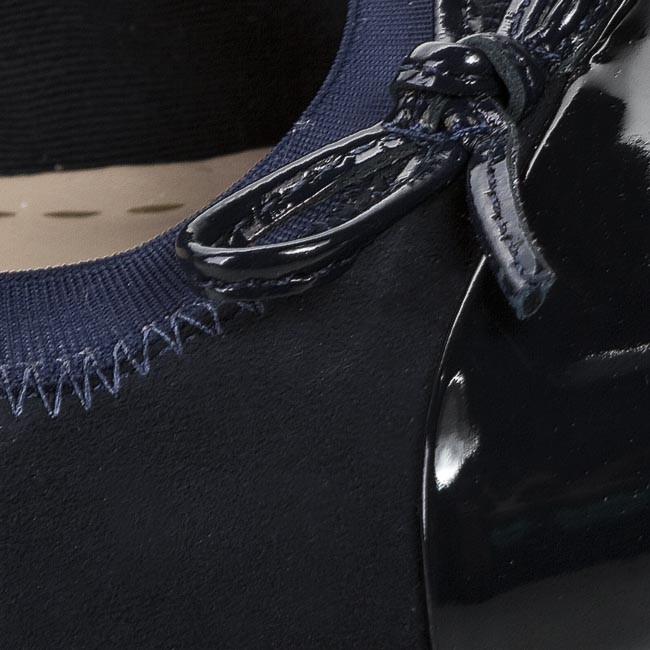 144aeade70c1b Heels CLARKS - Balcony Poem 261009914 Navy Suede - Heels - Low shoes ...