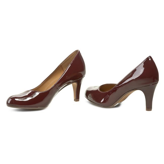 High Heels CLARKS Arista Abe 261045394 Burgundy Abe