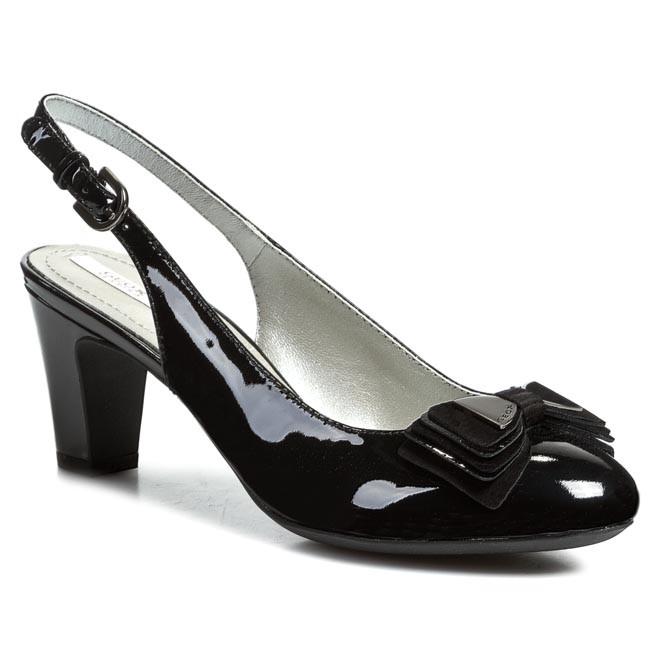 Sandals GEOX D Mariele Mid C D42T7C 06621 C9999 Black