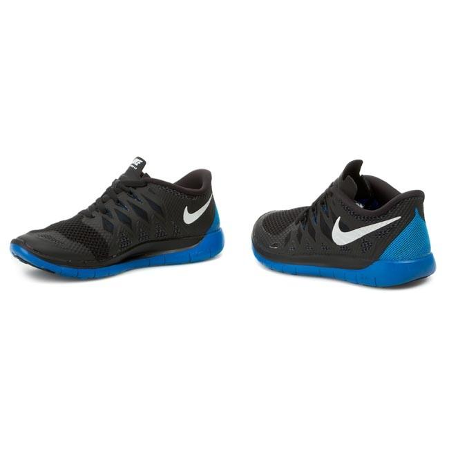 Shoes NIKE Free 5.0 644428 003 Black White Anthracite Photo Blue