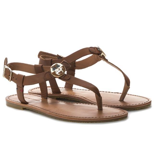 sandals tommy hilfiger julia 26a fw56816798 cognac 606. Black Bedroom Furniture Sets. Home Design Ideas