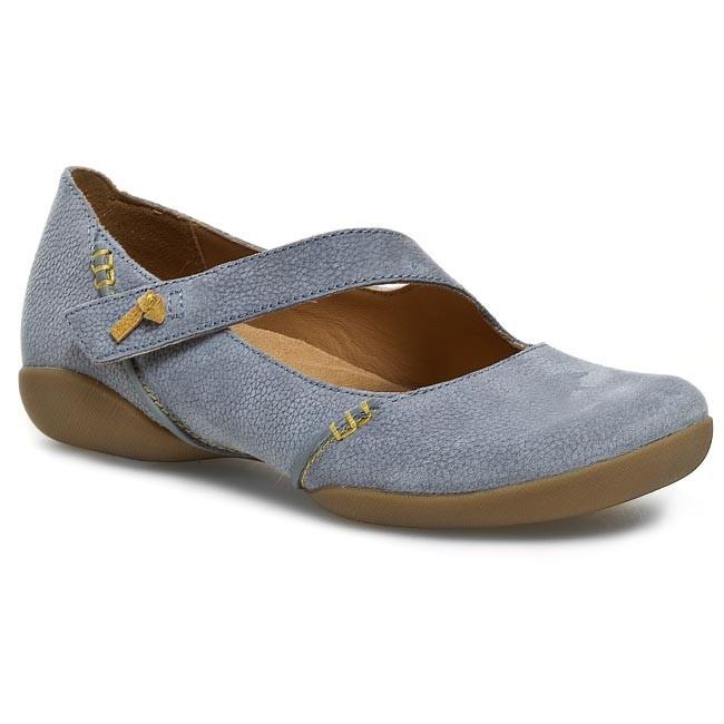 Shoes CLARKS Felicia Plum 203587344 Denim Blue Lea