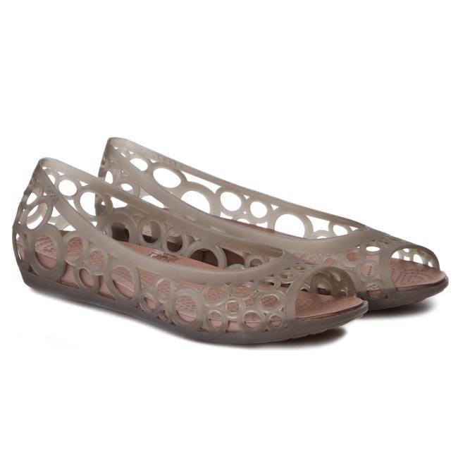 Flats CROCS - Adrina Flat Women 11238 Espresso/Bronze - Ballerina ...