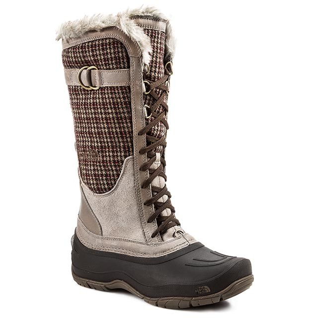 843e95065 Snow Boots THE NORTH FACE - Shellista Lace Luxe T0A1NFU8C-7 Vintage  Khaki/Demitasse Brown