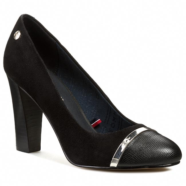 high heels tommy hilfiger avery 8c fw56817747 black 990. Black Bedroom Furniture Sets. Home Design Ideas