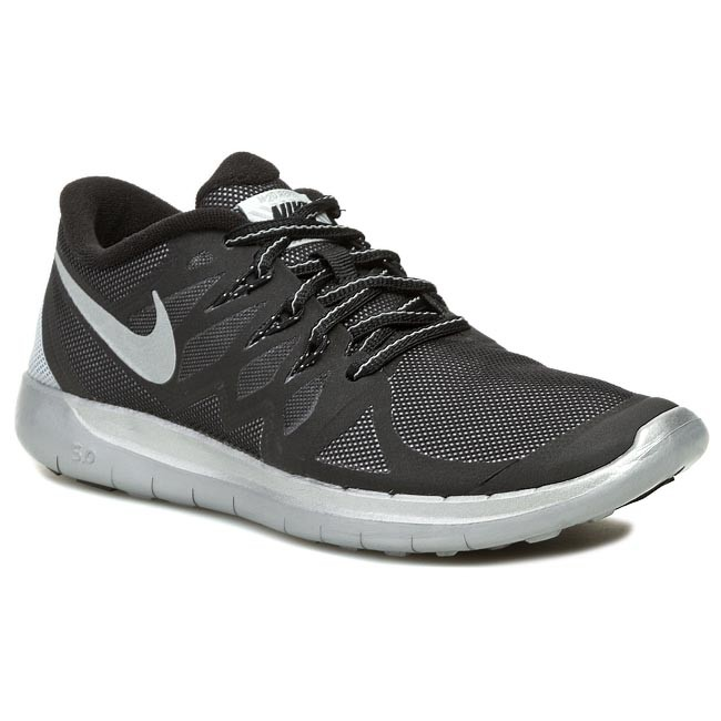 Shoes NIKE Free 5.0 Flash 685711 001 BlackReflect SilverWolf Grey