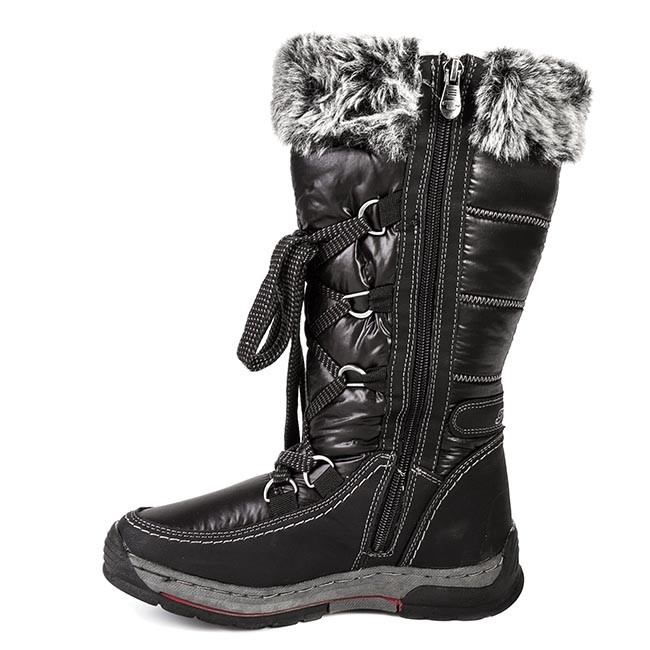 snow boots tom tailor 649210100 black winter boots. Black Bedroom Furniture Sets. Home Design Ideas