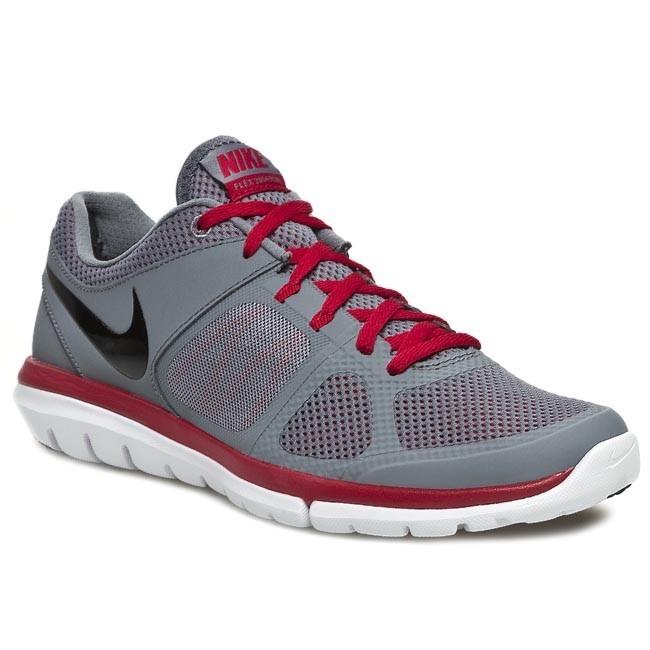 Shoes NIKE Flex 2014 RN 642791 003 Cool GreyBlackGym RedWhite