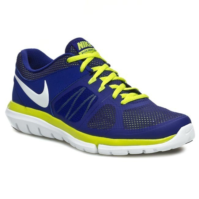 Shoes NIKE Flex 2014 RN 642791 400 Deep Royal BlueWhiteVNM Green