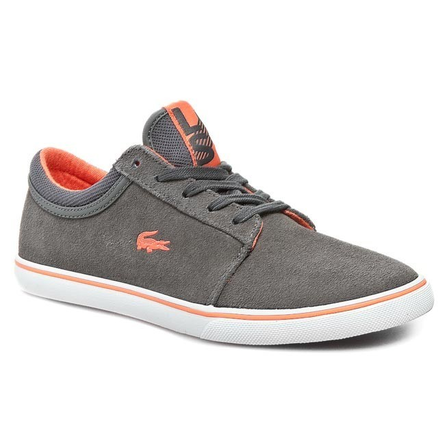 Plimsolls LACOSTE - 7-27SCW2018DW1 Dark Grey/Orange