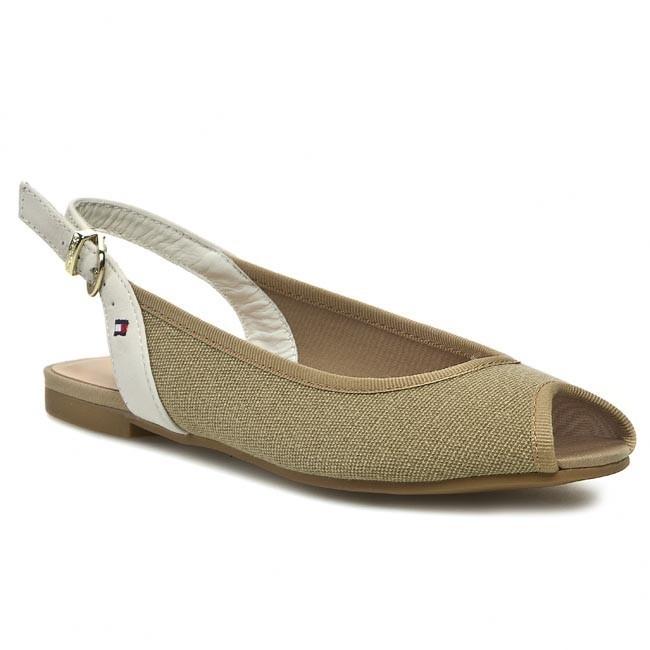 Sandals TOMMY HILFIGER - Amy 2D FW56817513 Cornstalk/Whisper White 121