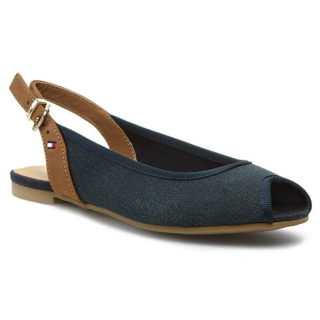 Sandals TOMMY HILFIGER - Amy 2D FW56817513 Midnight/Summer Cognac 403