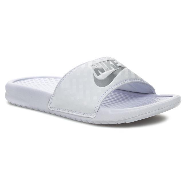 Slides NIKE - Benassi Jdi 343881 102 White/Metallic Silver