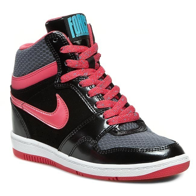 Shoes NIKE - WMNS Nike Forcew Sky High Prm 644413 001 Black/Geranium/Cool Grey