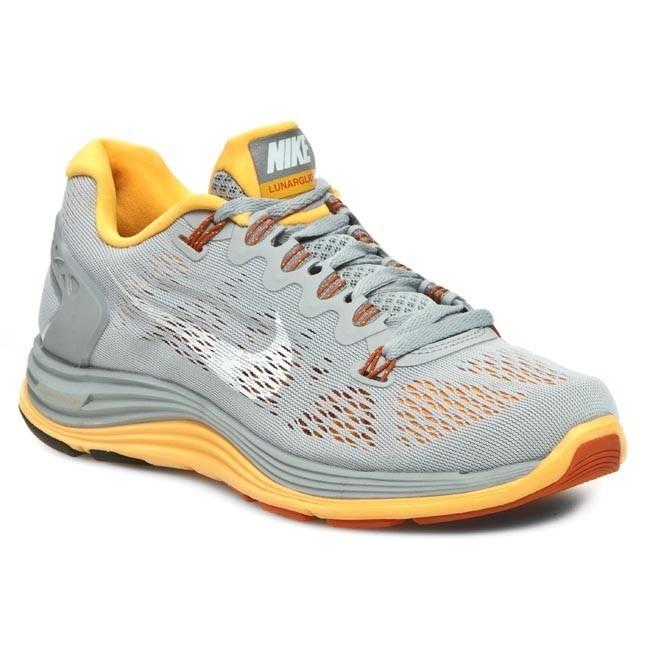 Shoes NIKE - WMNS Nike Lunarglide+ 5 599395 008 Bs Grey/White/Atomic Mango/Slr Orange