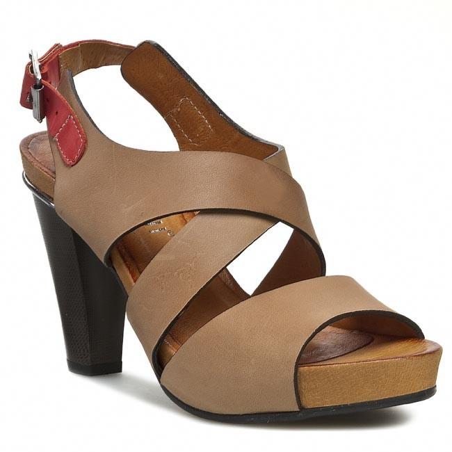 Sandals CARINII - B2111 Verso/Bufalo Malina K24