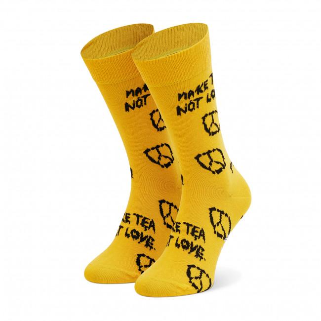 Men's High Socks HAPPY SOCKS - MPY01-2200 Yellow