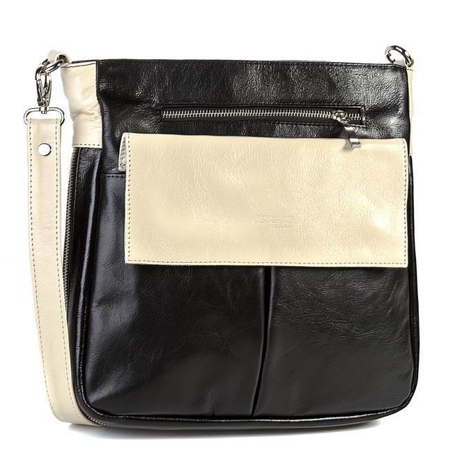 Handbag OSKAR - 464 Beige Black