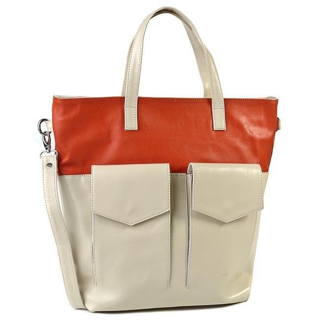 Handbag OSKAR - 465 Beige Orange
