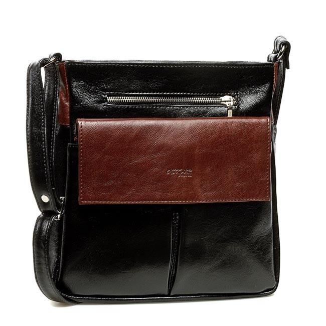 Handbag OSKAR - 464 Brown Black