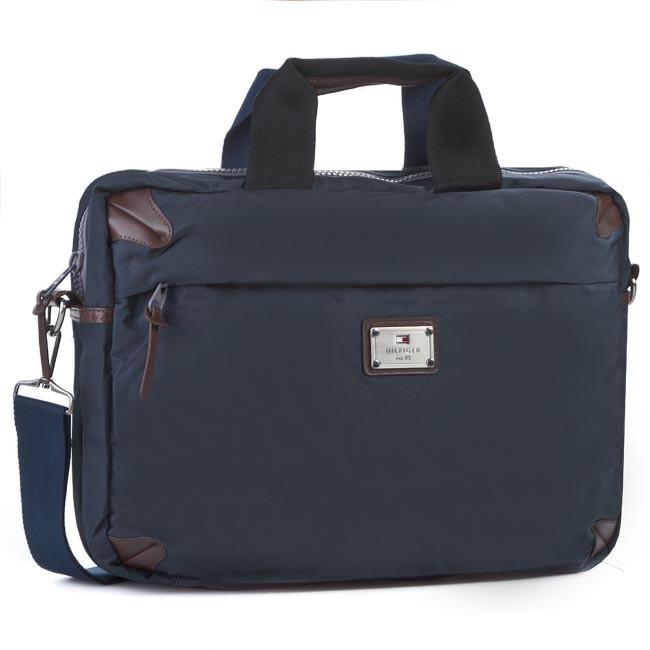 Laptop Bag TOMMY HILFIGER - Burlington Two Handles Brief Case 3B TWU918 F5 TWO Midnight Blue