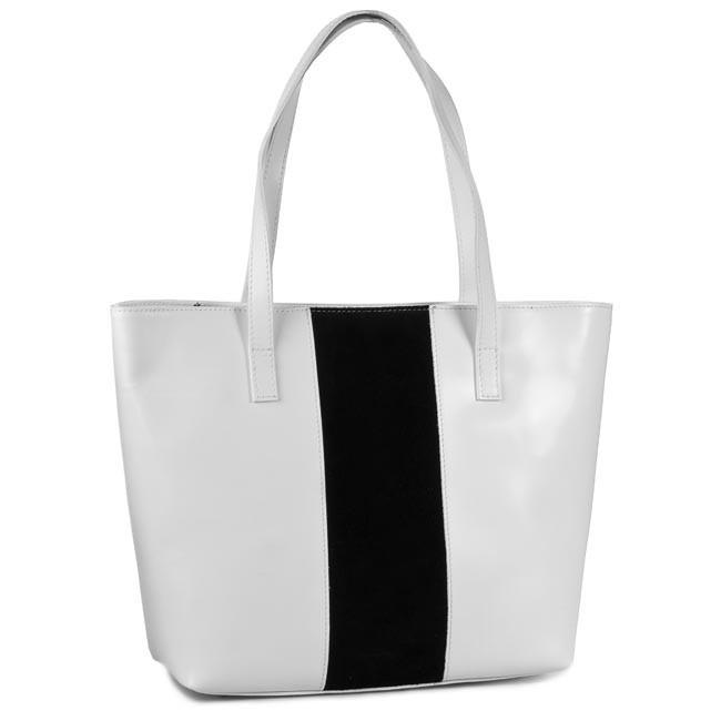 Handbag CREOLE - RBI1203 B/CZ White Black