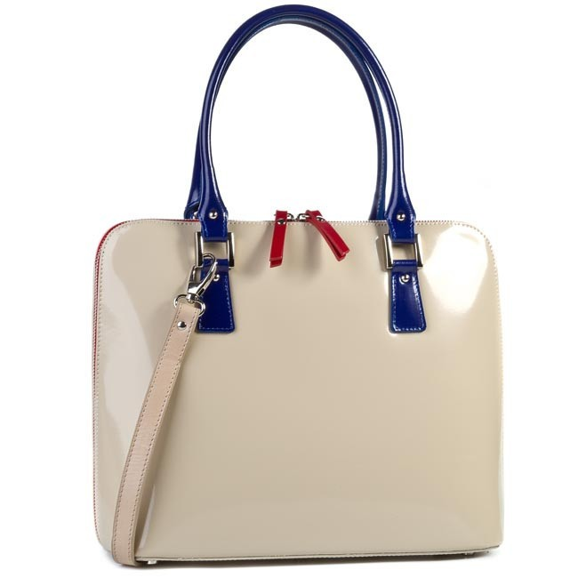 Handbag CREOLE - RBI1080 Beige Blue Red