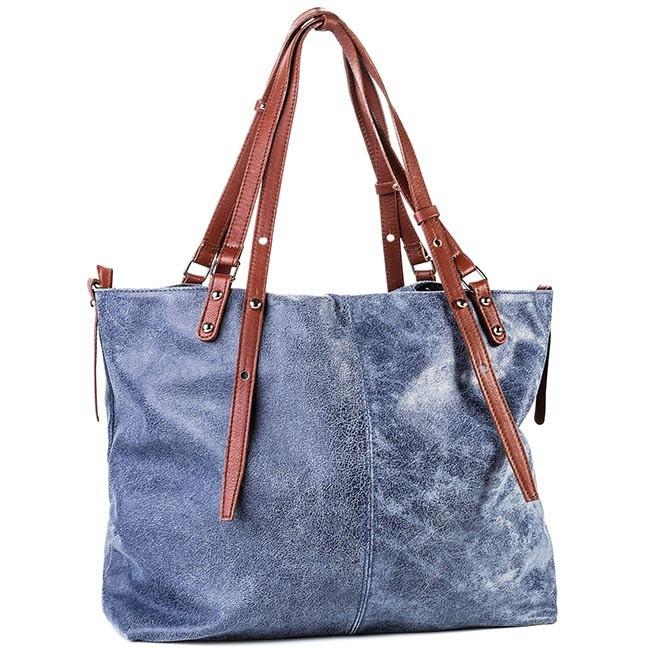 Handbag CREOLE - RBI1206 Blue Brown