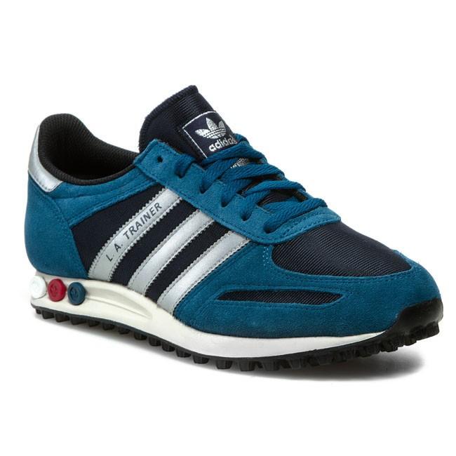 Shoes adidas - La Trainer D65665 Legend Ink/Metallic Silver/White Vapour