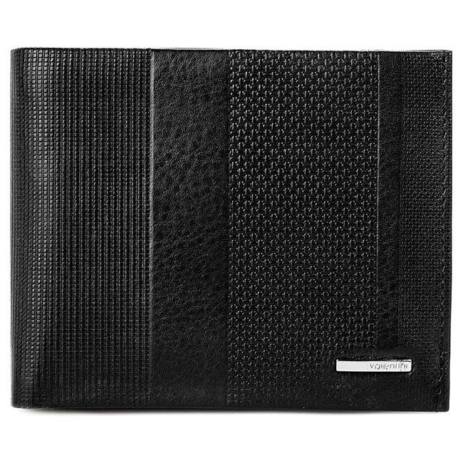 Large Men's Wallet VALENTINI - 157.901 Black Black