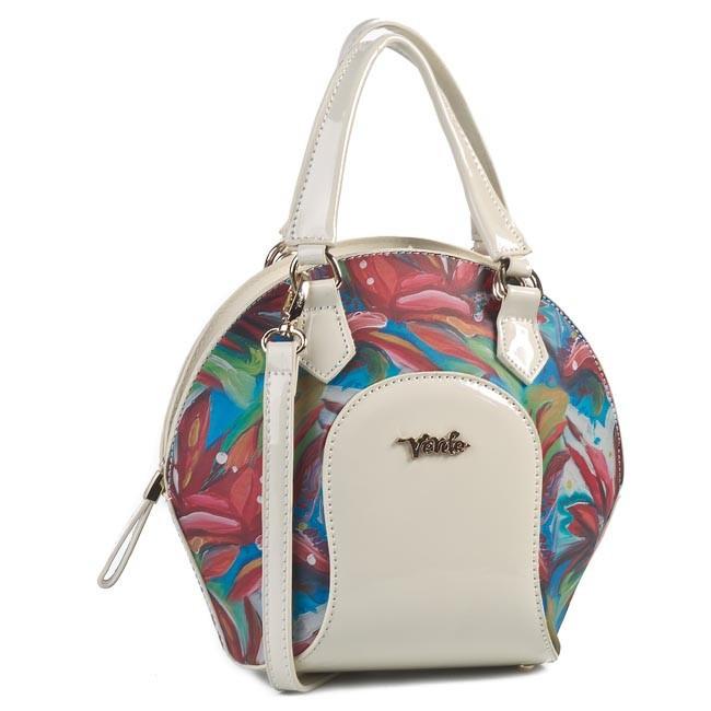 Handbag VERDE - 16-0002613 Beige White Red