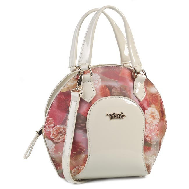 Handbag VERDE - 16-0002615 Beige White Pink