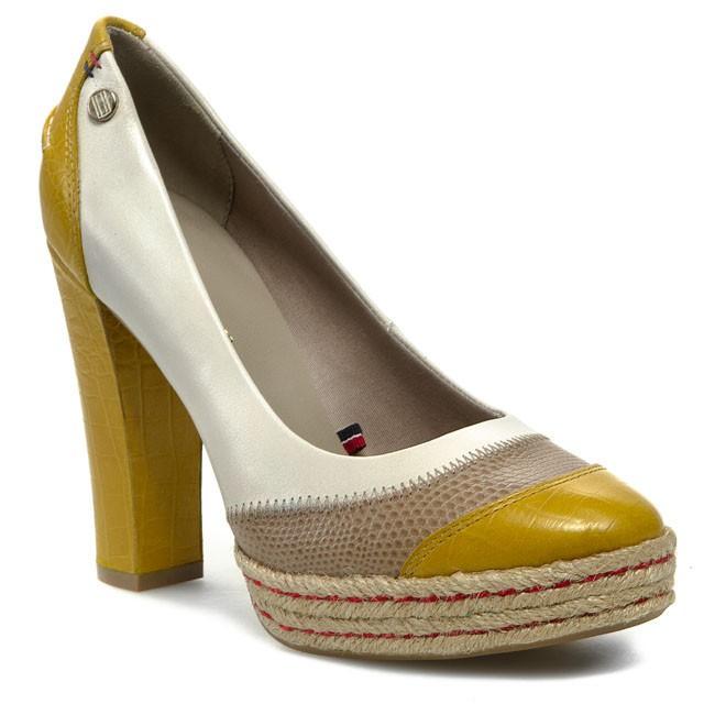 High Heels TOMMY HILFIGER - Faye 5A FW56816615 Sulphur/Cobblestone/Eggnog 081