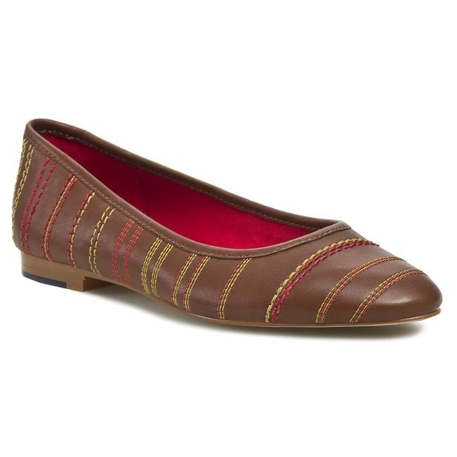 Flats TOMMY HILFIGER - Lilly 1A FW56816619 Cognac 606