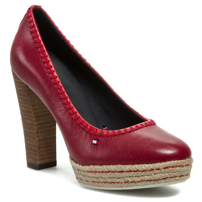 High Heels TOMMY HILFIGER - Faye 1A FW56816613 Persian Red 639