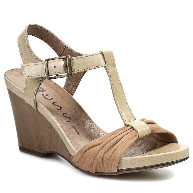 Sandals NESSI - 50504 Beż/Natural