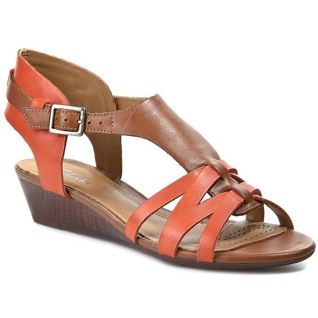 Sandals CLARKS - Playful Club 20358944 Tan Combi Lea