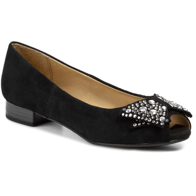 Shoes CAPRICE - 9-29100-22  Black Suede 004